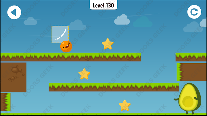 Where's My Avocado? Level 130 Solution, Cheats, Walkthrough, 3 Stars for Android, iPhone, iPad and iPod