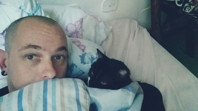 Na cama com a gatinha