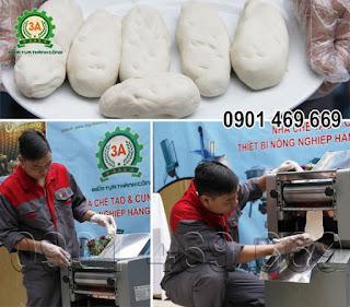 Máy cán bột làm bánh 3A1,5Kw
