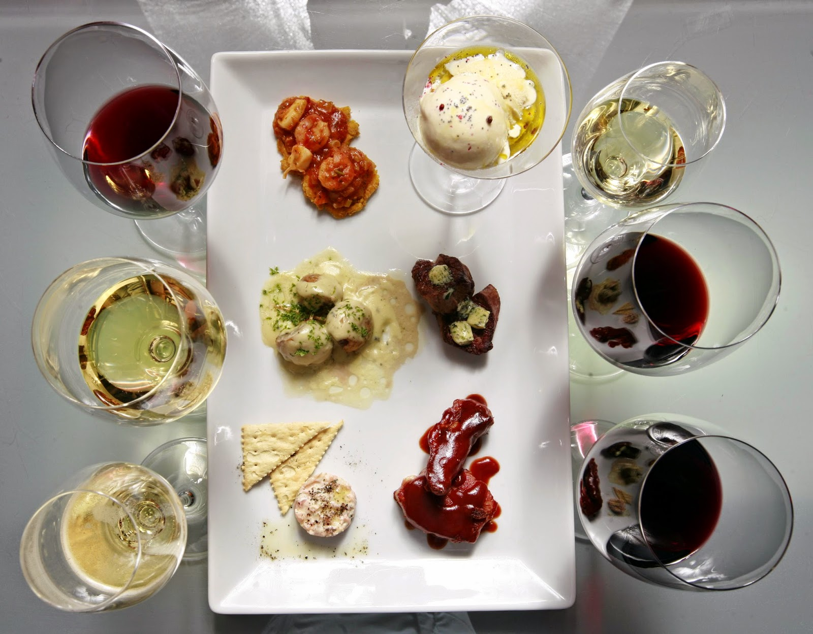Maridaje de alimentos y vinos
