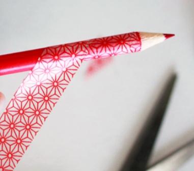 Cara Mengubah Pensil Kumal Menjadi Menarik Hati dengan washi tape