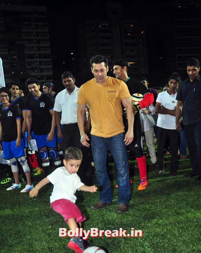 Azad Rao Khan, Salman Khan, Bollywood Celebs play football match for Aamir khan's daughter Ira Khan