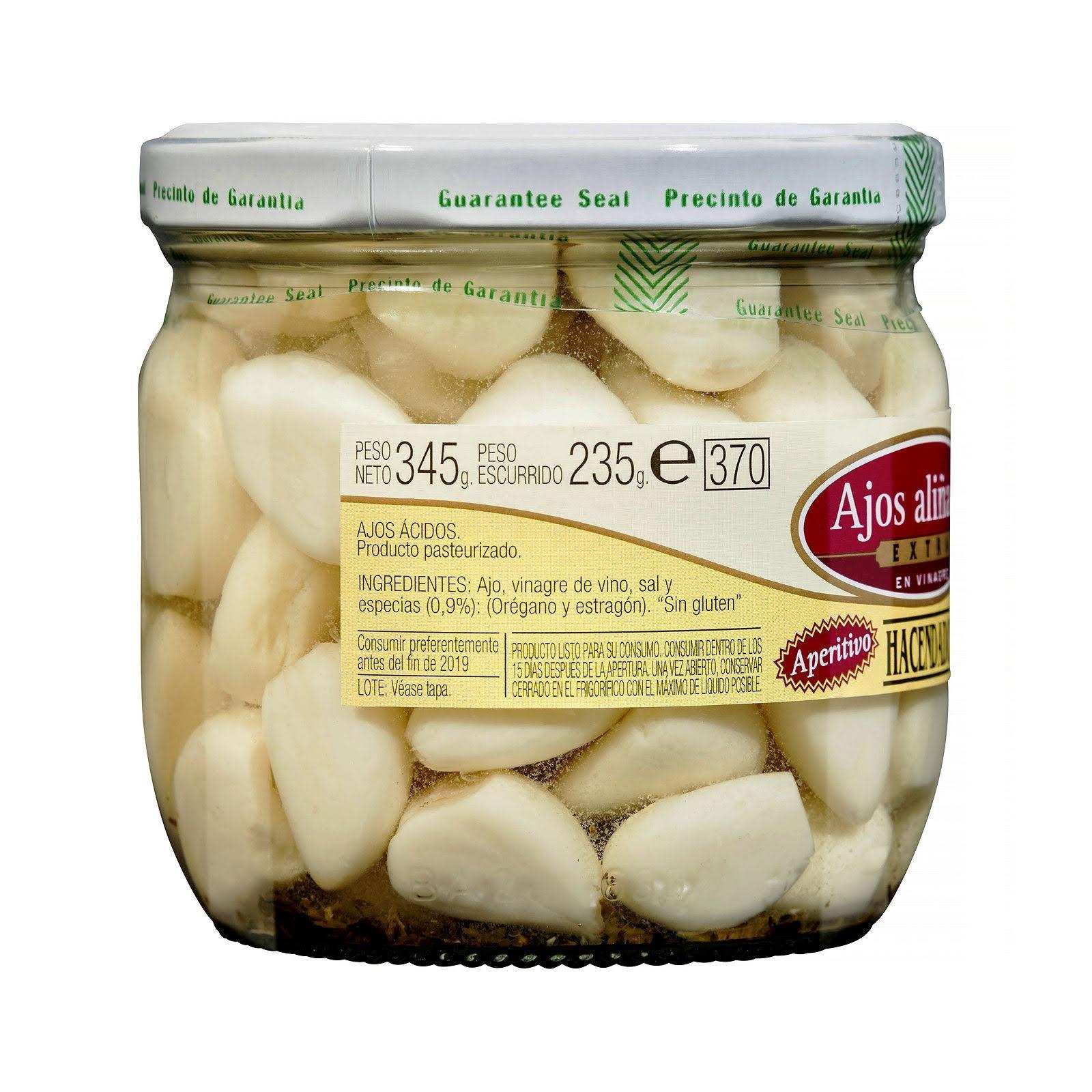 Ajos aliñados extra en vinagre Hacendado