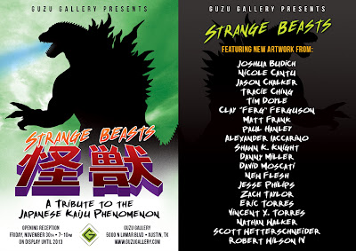 Guzu Gallery presents Strange Beasts: A Tribute to the Japanese Kaiju Phenomenon Art Show