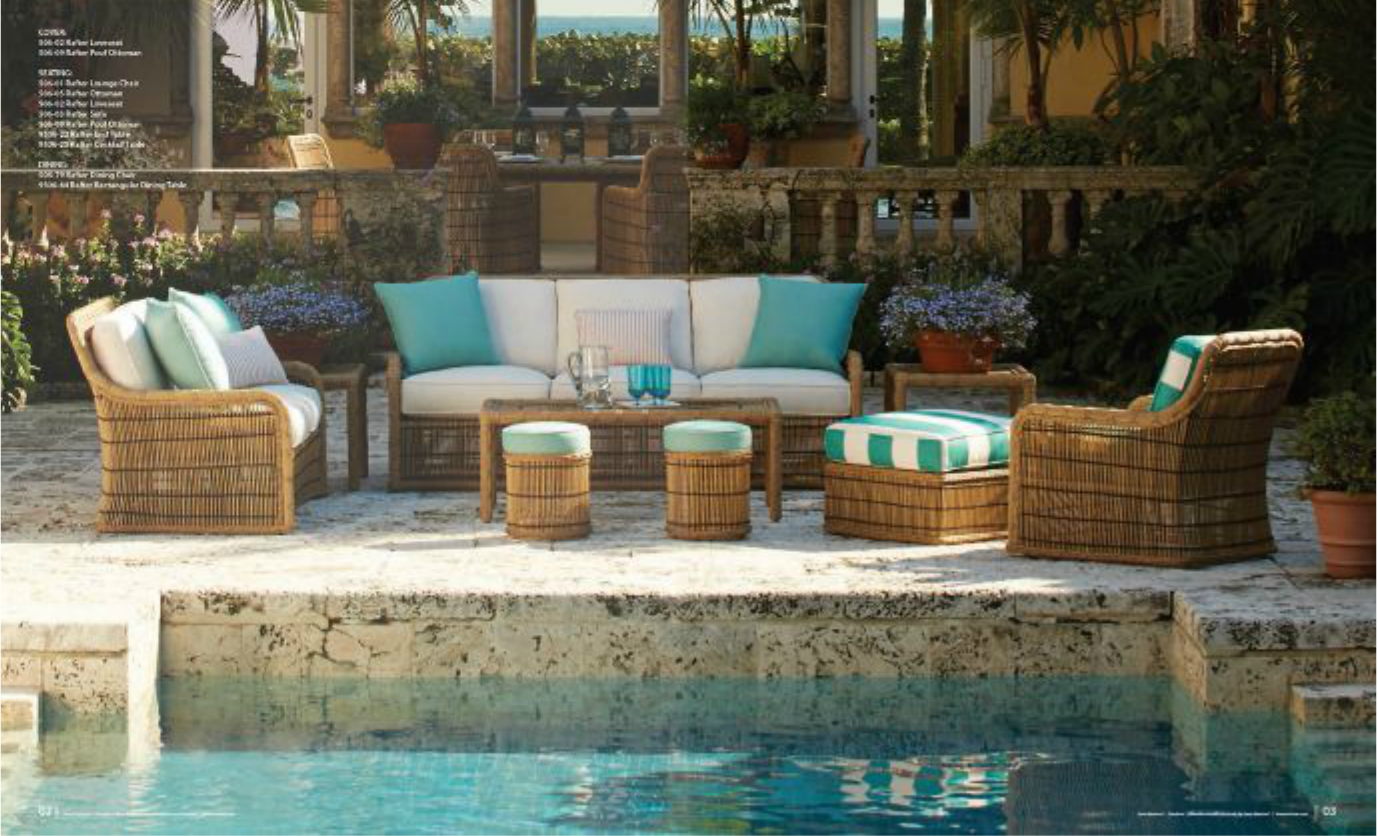 moroccan patio furniture. \u201cI\u0027ve Seen A Lot Of French Moroccan Stick-style Rattan And Have Long Found The Construction Supremely Elegant But Hard To Find In New Weather-impervious Patio Furniture