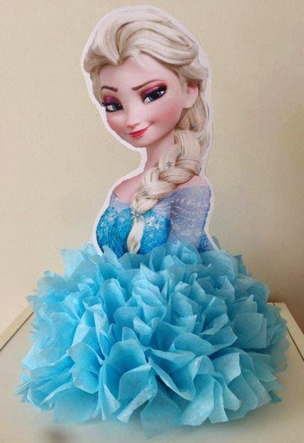 Centro de Mesa Frozen Para Festa Infantil
