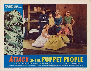 Lobby card - Attack of the Puppet People (1958)