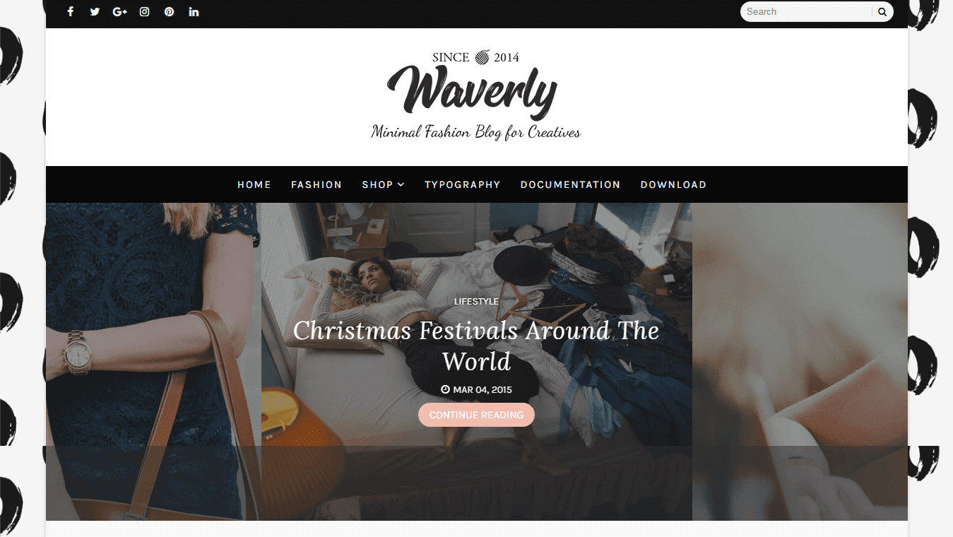 Waverly Personal Blogger Template - BTemplates