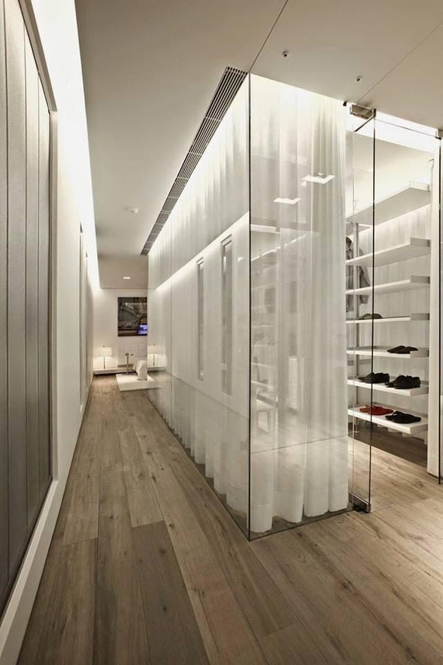 modern glass white apartment