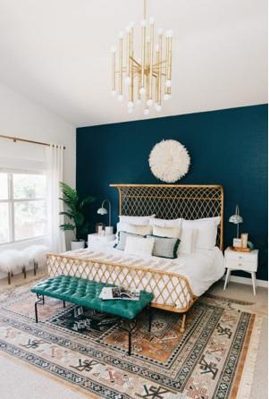 cómo darle colorido al dormitorio, como pintar el dormitorio con colores alegres