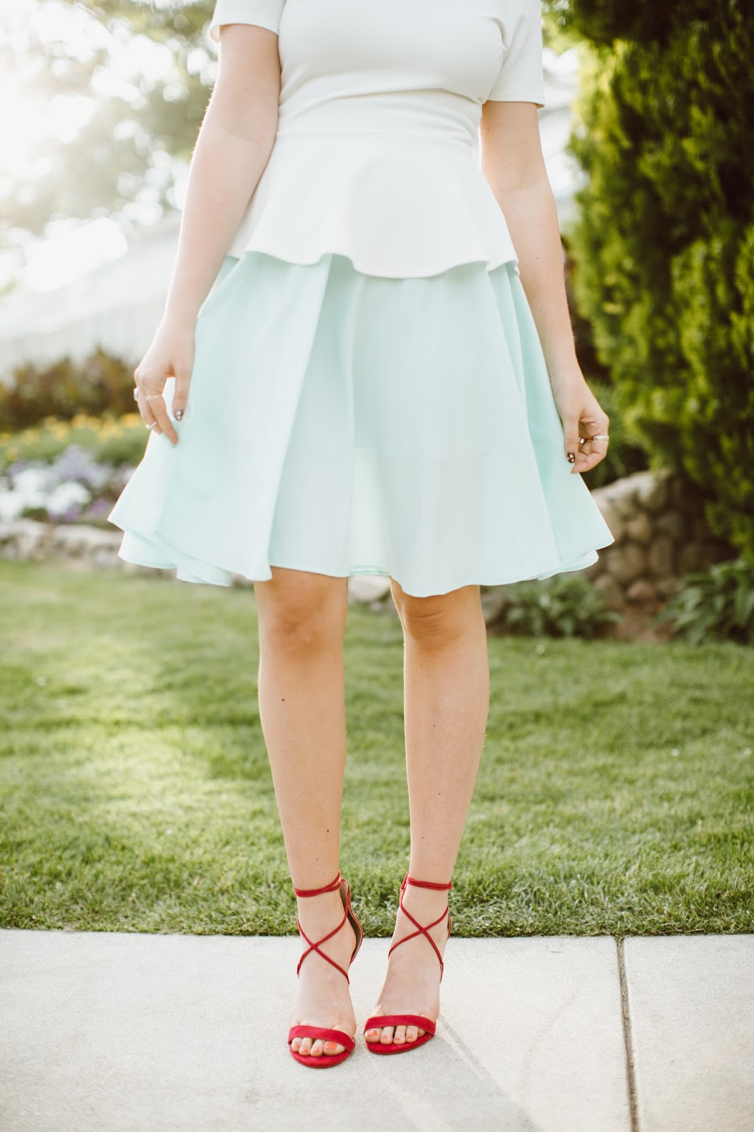 Summer Outfit, Fashion Blogger, Pink Heels