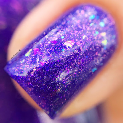 girly bits cosmetics grape escape september 2018 colour of the month cotm