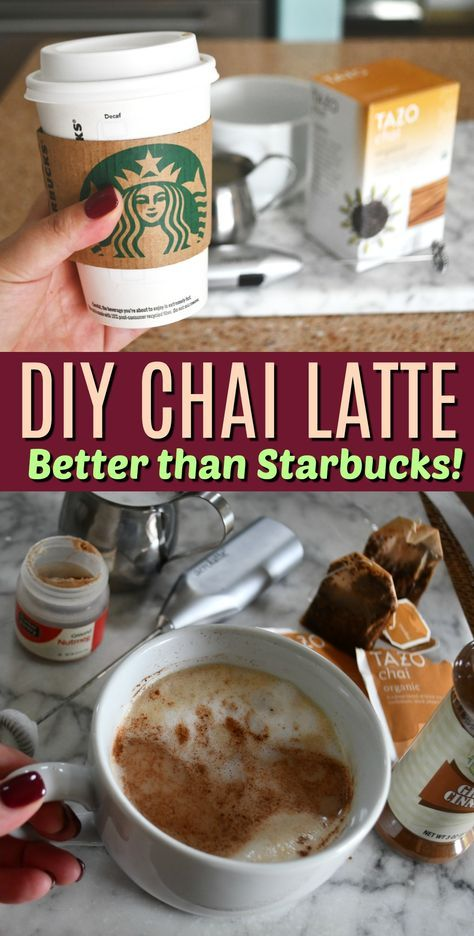 DIY Starbucks Inspired Chai Tea Latte