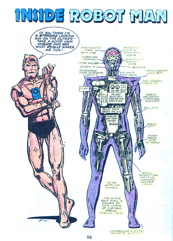 The Dork Review George Perez S Robot Man