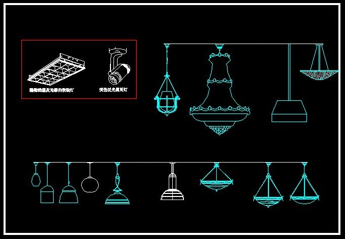 CAD Drawings Free Download: Lighting Symbols
