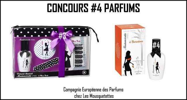 Résultat Concours La Compagnie Européenne des Parfums avec Mademoiselle Arbel - Les Mousquetettes