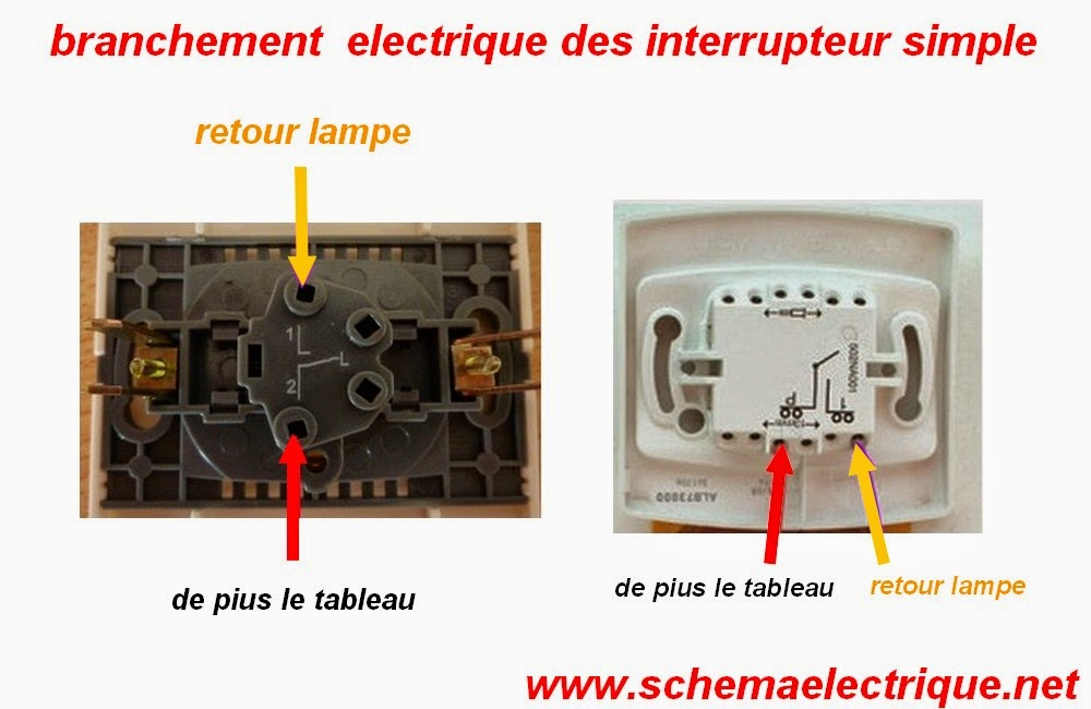 schema installation interrupteur simple