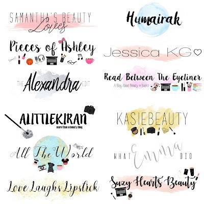 Custom Blog Header Logos, WaterColour Blog Logo, Classic Blog Logo