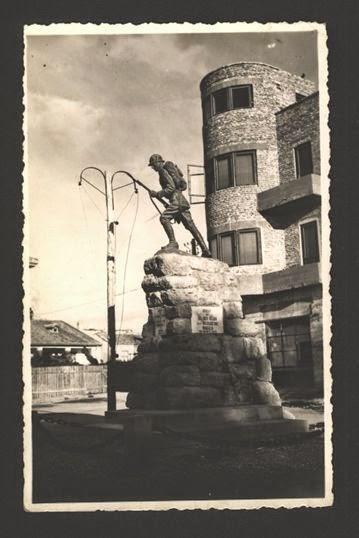 Monumentul din Mangalia interbelică în două ipostaze diferite