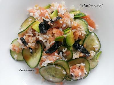 Ryż z warzywami i łososiem