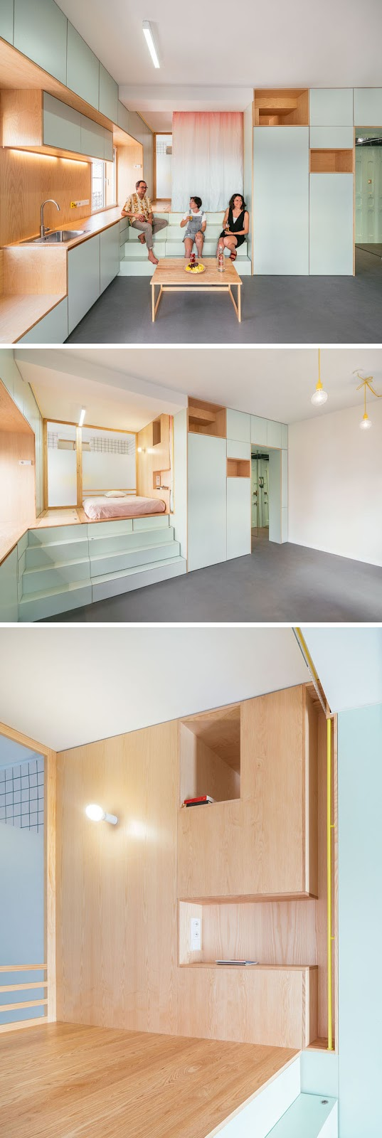 small-apartment-raised-bedroom-090318-1244-05 The Design Of This Renovation Small Apartment Includes Many Creative Storage Solution Ideas Interior