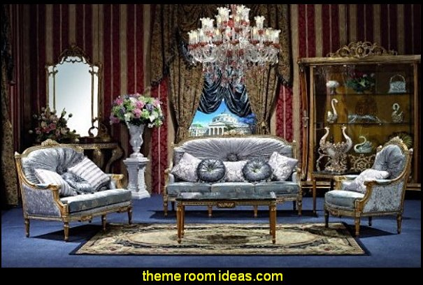 George Versailles classic traditional Furniture Living Room Se