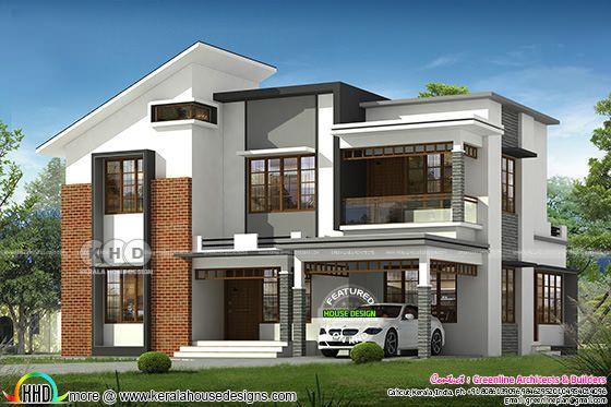 2501 square feet 4 bedroom modern house design