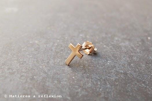Saint valentin : boucles croix Feidt Paris
