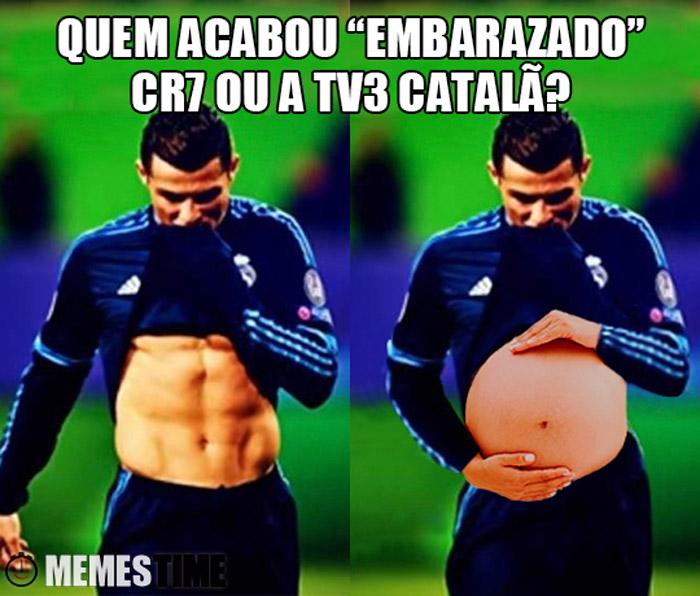 """Meme Abdominais de Cristiano Ronaldo – Quem ficou """"Embarazado"""", CR7 ou a TV3 catalã?"""
