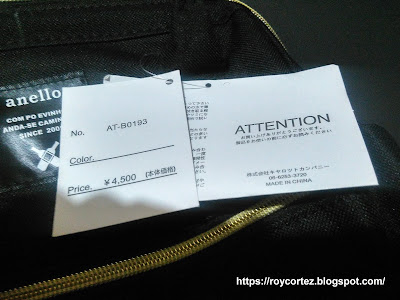 fake anello bag tags