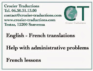 English-French translations,help with administrative problems, French lessons, etc