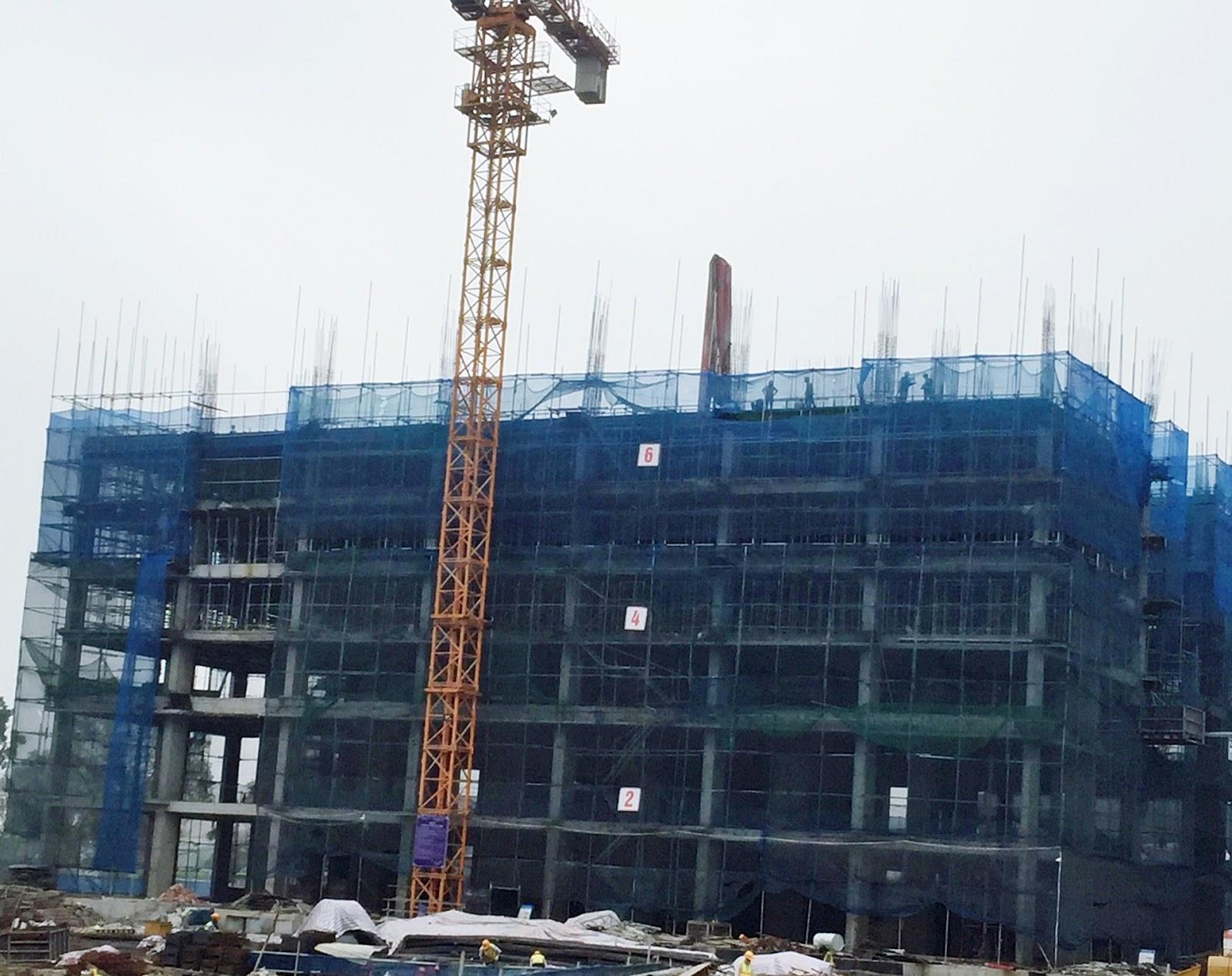 Tòa CT2 đã xây dựng tới tầng 7
