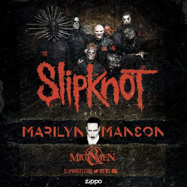 Slipknot 2016 with Marilyn Manson