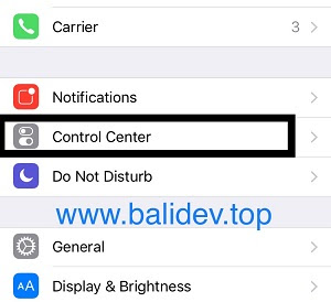 Pengaturan Control Center iPhone