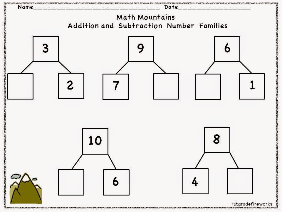 Math Mountains from Trick or Treat October Centers