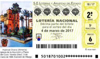 loteria nacional huercal overa del sabado-4-marzo de 2017