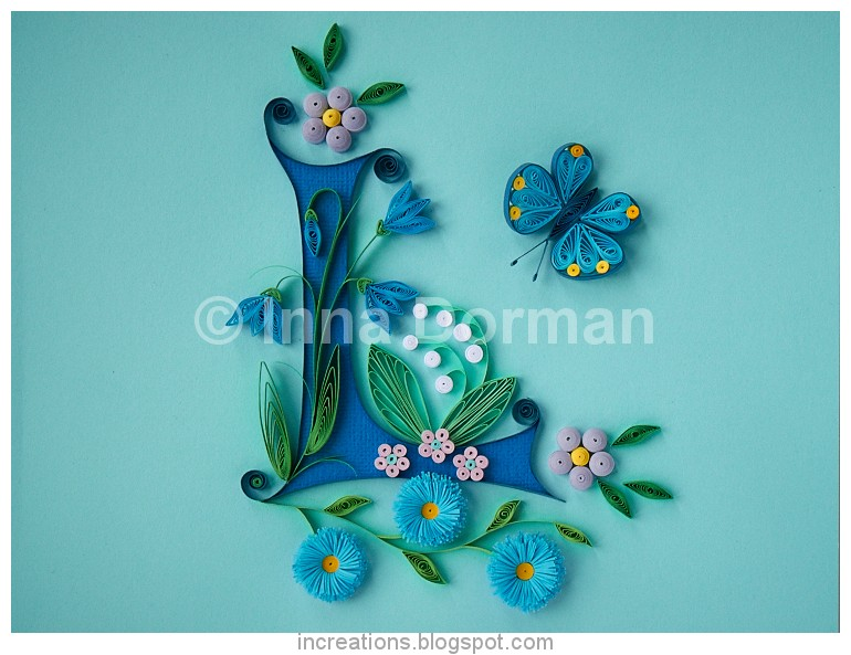 Innas creations quilling illuminated capital l quilling illuminated capital l altavistaventures Gallery