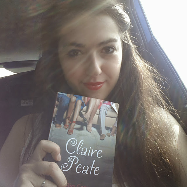 Natalie holding a book