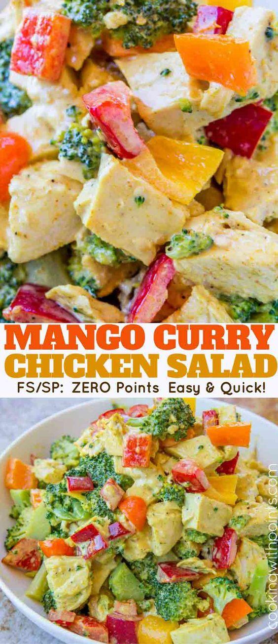 ZERO POINT-MANGO CURRY CHICKEN SALAD