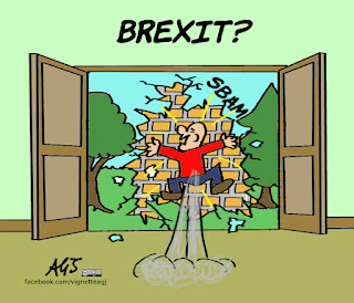 brexit, leave, remain, economia, vignetta, satira