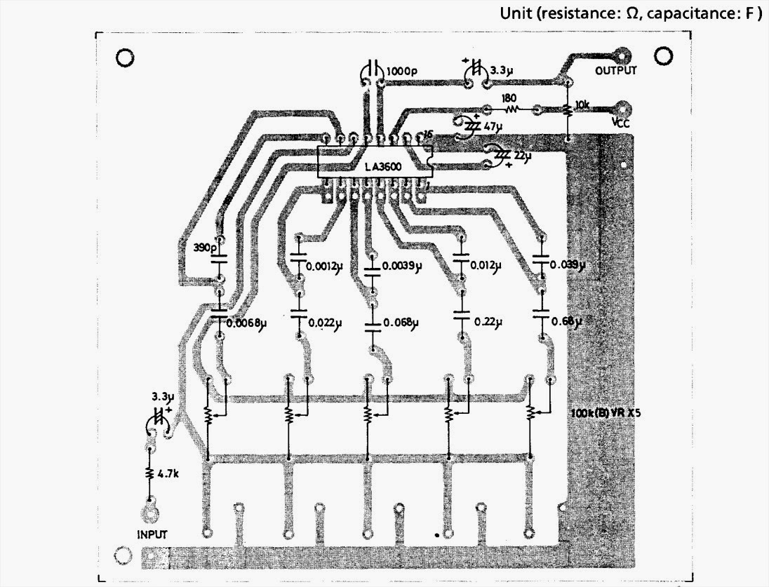Schematic: LA3600 Equalizer 5 band