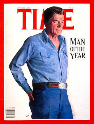 Reagan, cover ot Time Magazine as Man of the Year