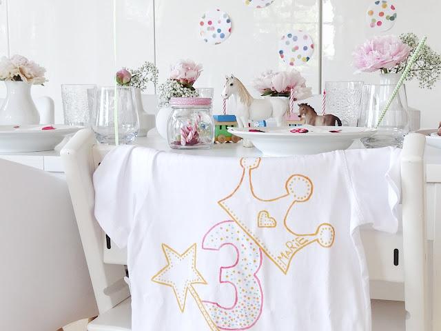 Geburtstags-Shirt selber bemalen - 6 Deko-Ideen für Geburtstage - www.mammilade.blogspot.de - Impressionen eines 3. Geburtstages