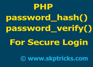 password_hash and password_verify