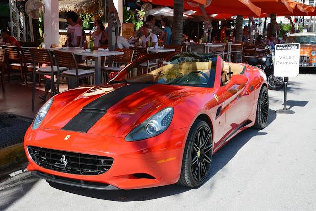 Miami Beach cars Ferrari