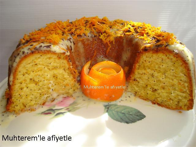 Portakallı haşhaşlı kek nasıl yapılır?