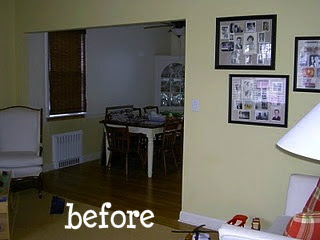 living room and dining room before