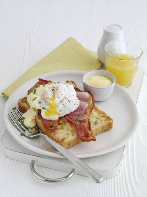 Poached Eggs Benedict With Quick Hollandaise