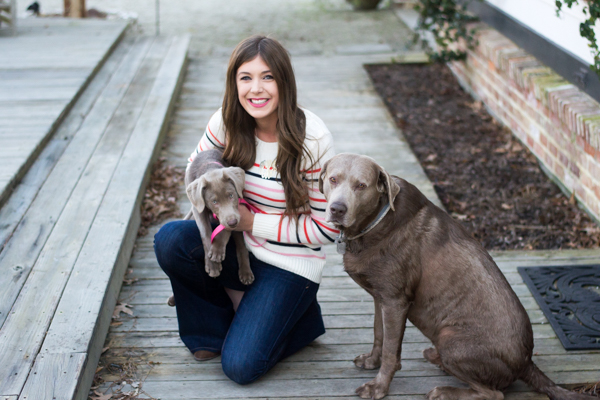 Cozy Striped Sweater With Silver Labs | Chasing Cinderella