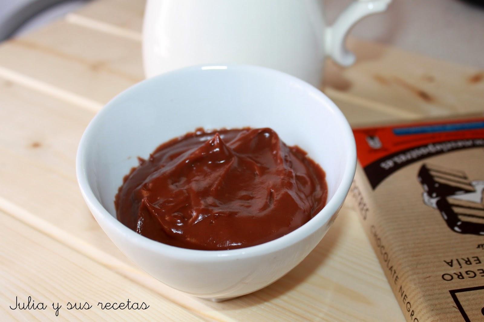 Crema pastelera de chocolate. Julia y sus recetas